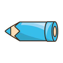 Wooden pencil utensil icon vector illustration graphic design