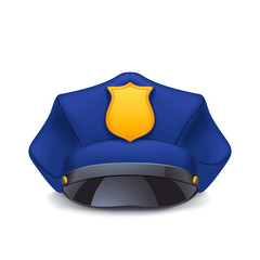 police cap with shadow