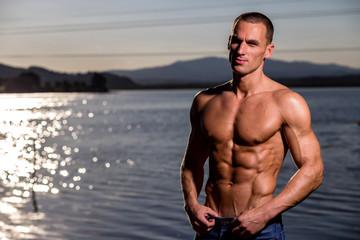 fitness muscular male model