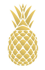 Vector Golden Pineapple