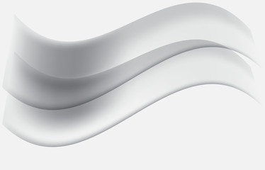 Abstract smooth blurred grey waves background.