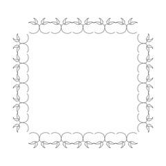 Elegant Victorian with square shape frame vector illustration design