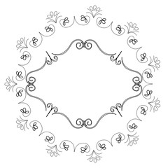 Elegant Victorian with circular shaped frame vector illustration design