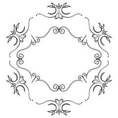 Elegant Victorian with Hexagonal shape frame vector illustration design