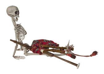 Skeleton with Bagpipes