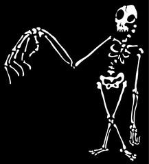 Weird Arm Skeleton Outline