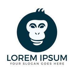 Gorilla or Monkey Head logo design.