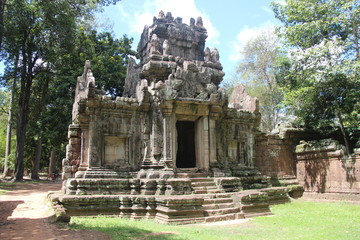 Cambodia . Phimeanakas Temple . The north gate . Siem Reap Province . Siem Reap City .