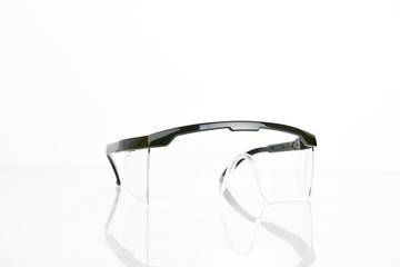 Work Protection Glasses On White Background