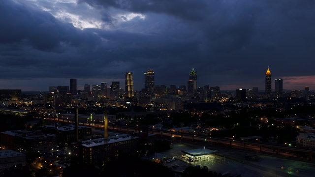 Atlanta Downtown Scenic Shots (Aerial Footage)