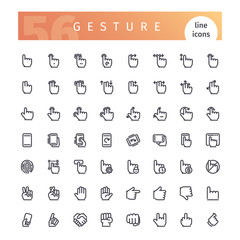 Gesture Line Icons Set