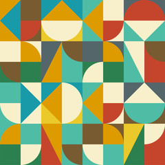 Seamless geometric abstract pattern. Vector illustration.