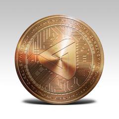copper maidsafecoin coin isolated on white background 3d rendering