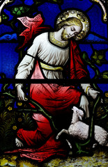 Jesus Christ the Good Shepherd (stained glass)
