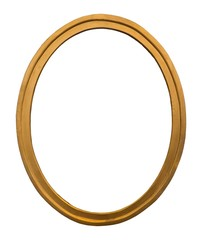 Gold oval frame for paintings, mirrors or photos