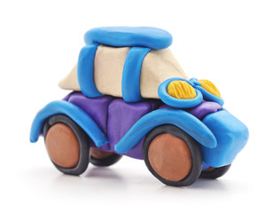 Plasticine car.