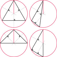 Geometric figures, escribed circle of a triangle.