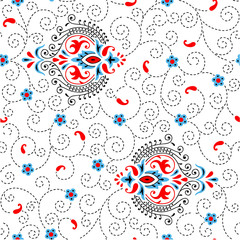 Ornamental pattern with colored background