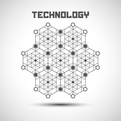 Abstract technology background. Technology element with shadow.