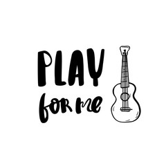 Play for me postcard ink modern brush calligraphy