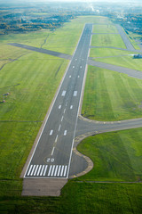 Aerial View of Vilnius Airport. Woks of reconstruction of the runway of Vilnius airport will be conducted during the period from 14 July till 17 August 2017.