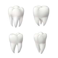 Healthy teeth icon set for dentistry design