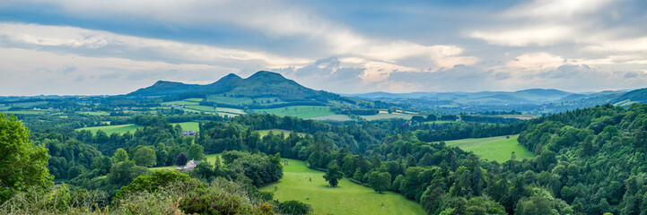 Scott's View looking to the Eildon Hills in the Scottish Borders. Scotland UK, Europe Wall mural