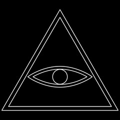 All seeing eye symbol   the white path icon .