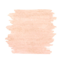 Hand drawn watercolor peach pink texture isolated