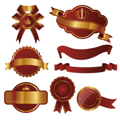 set of emblems