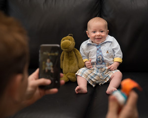 Photographing Infant with cell phone