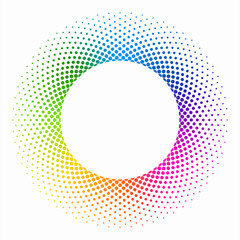 Colourful Halftone Ring #Vector Graphics