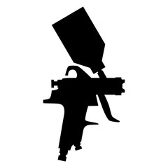paint spray gun silhouette