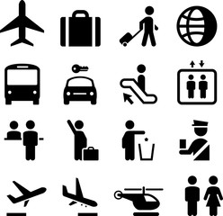 Airport Icons - Black Series