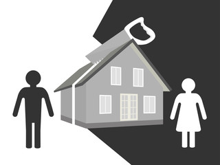 Spouses divide property after divorce