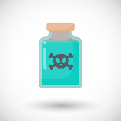 Poison bottle vector flat icon