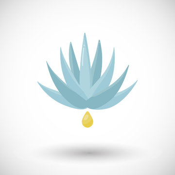 Agave syrup vector flat icon