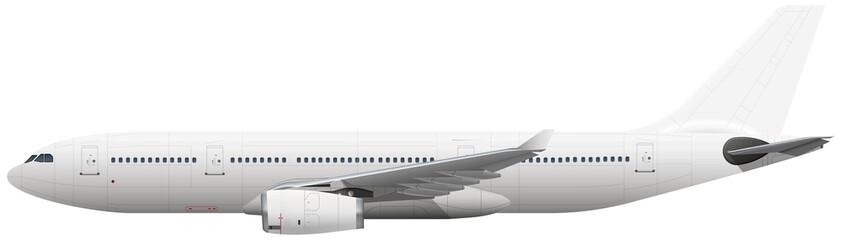 White vector plane on white background