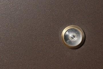 Peephole in the front door