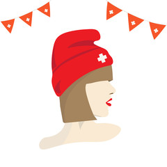 Vector illustration for Swiss National Day. The First of August. Known as Schweizer Bundesfeier, Festa nazionale svizzera, Fête nationale suisse.