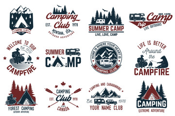 Summer camp. Vector illustration. Concept for shirt or logo, print, stamp or tee. Wall mural