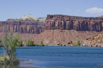 Lake in the Middle of Sandstone Buttes