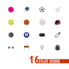 Set Of 16 Editable Training Icons. Includes Symbols Such As Bodybuilding, Washer, Darts And More. Can Be Used For Web, Mobile, UI And Infographic Design.