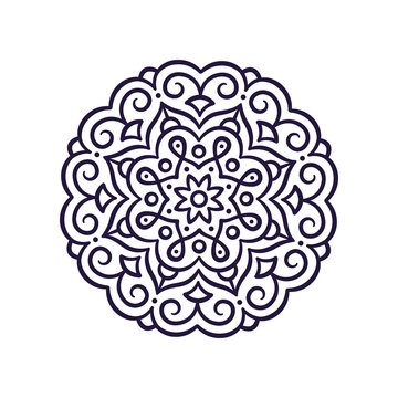 Simple Mandala ornament