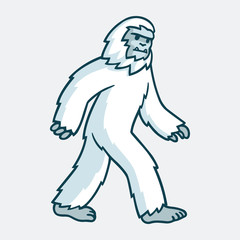 Cartoon yeti illustration