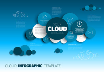 Cloud - Vector Infographic template Wall mural