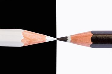 white and black pencils sites horizontal