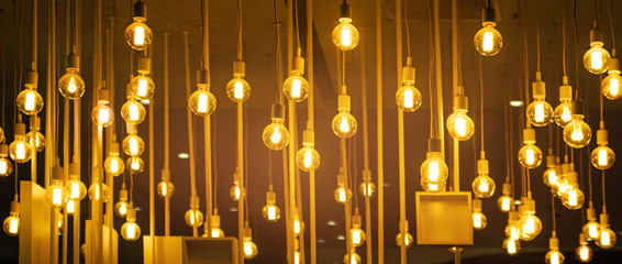 Light bulbs for ceiling decoration