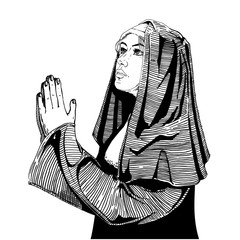 Nun is praying