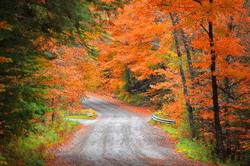Autumn drive in rural New Hampshire